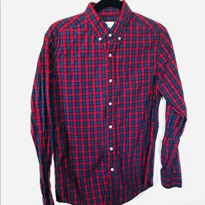 American Eagle Outfitters- Plaid Polo- Men's S